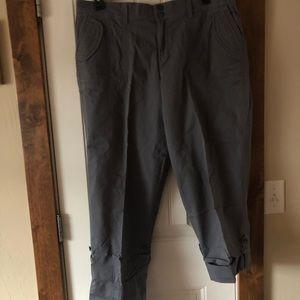 Sonoma Gray Roll & Tao Bottom Crops/Pants-Sz. 14W